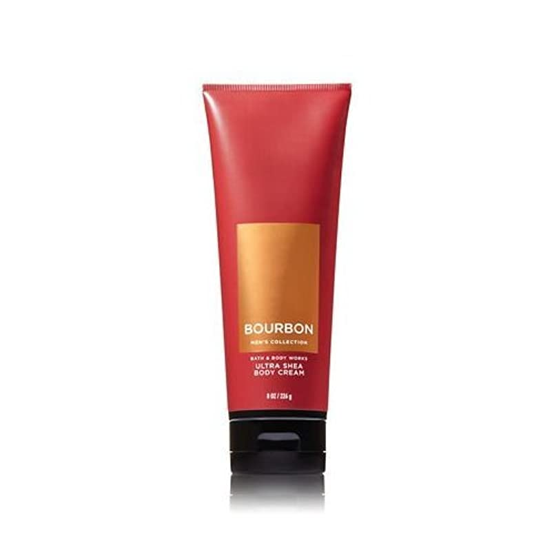 七面鳥和書き出す【並行輸入品】Bath and Body Works Bourbon for Men Ultra Shea Body Cream 226 g