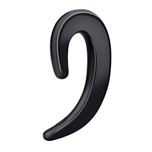QLJ Auriculares de conducción ósea Auriculares Deportivos inalámbricos con cancelación de Ruido para automóvil-Negro