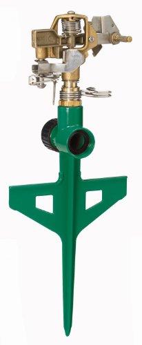 Dramm 15064 ColorStorm Premium 6-Inch Metal Stake Impulse Sprinkler, Green