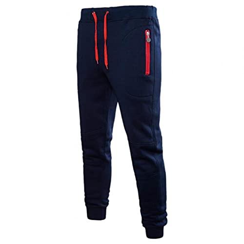 Looekveoyi Jogginghose Herren Streifendesign mit Reißverschluss Taschen Activewear Sweathose Sportlich Sporthose Traininghose mit Elastischer Taille Sweatpants Jogger Mode Freizeit Laufen Hose