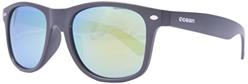 Ocean Sunglasses - Beach wayfarer - lunettes de soleil polarisées - Monture : Noir Transparent - Verres : Revo Jaune (18202.6 )