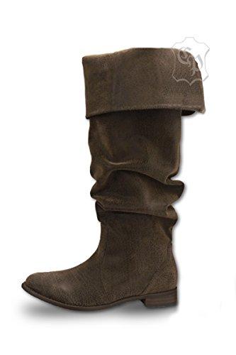 CP-Schuhe Mittelalter Stiefel Piratenstiefel Käptn Rotbart (42)