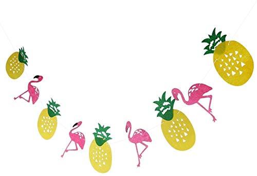 CWT Spielzeug Toy Tropical Hawaiian BBQ Luau Feiertags-Weihnachts Geburtstag Flamingo Ananas Bunting Partei Picknick Im Freien Banner Garland Spielzeug