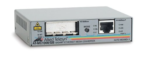 Allied Telesis AT-MC1008/GB-60 GBIC Medienkonverter (RJ45, 1000Base-T, MDI-X)