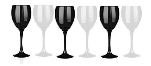 Sables & Reflets - Juego de 6 copas de vino tinto, color...