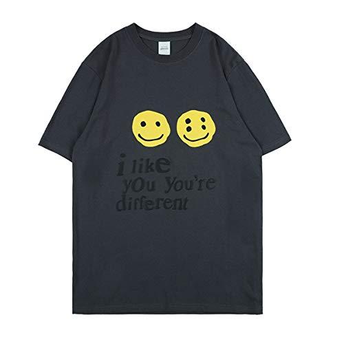 Arnodefrance I Like You You're Different Tshirt Hip Hop Tee Shirt Crew Neck Cotton Shirt Black