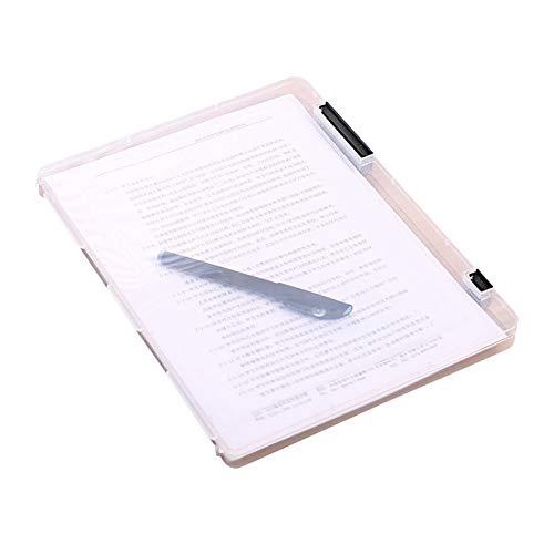 Titular de archivo A4 Caja de almacenamiento transparente Clear Plastic Document Papel de llenado de papel Fichero Impermeable Carpeta Oficina Oficina Papelería Artículos Suministros titular de archiv