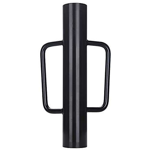A-KARCK Fence Post Driver 12 lb, Heavy Duty T Post Pounder with Handle Black, Rammer for Installing Fence Posts