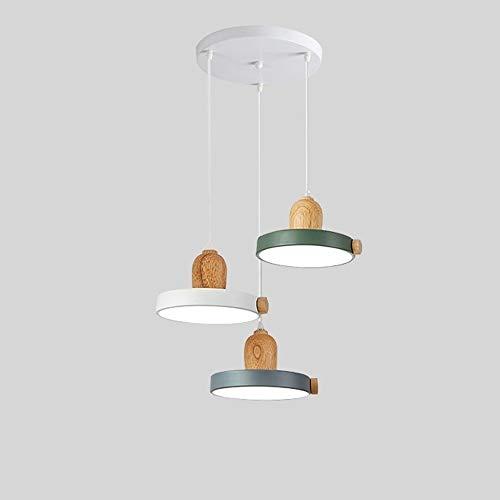 LED 3 Araña de Hierro Forjado, araña Ajustable Estudio de araña Comedor Cocina Iluminación Sala de Estar Techo Araña Decorativa [Clase de energía A ++] (Color : B)