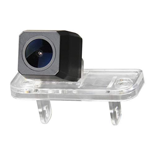 Cámara de marcha atrás mejorada HD de 1280 x 720 p, cámara de visión trasera para Mercedes Benz Clase C W203 Clase E W211 CLS Clase W219 (Nº 2 = tamaño 25 x 65 mm arriba borde redondo)