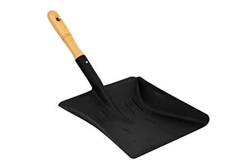 TDBS The Dustpan and Brush Store Coal Shovel Strong Metal 9 Inch Fireside Dust Ash Pan Spade with Wooden Handle