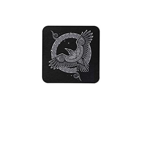 Celtic Knot Raven Coasters for Drinks Office Tabletop Protection Mat for Mugs Cups Coasters for Wooden Table One Piece