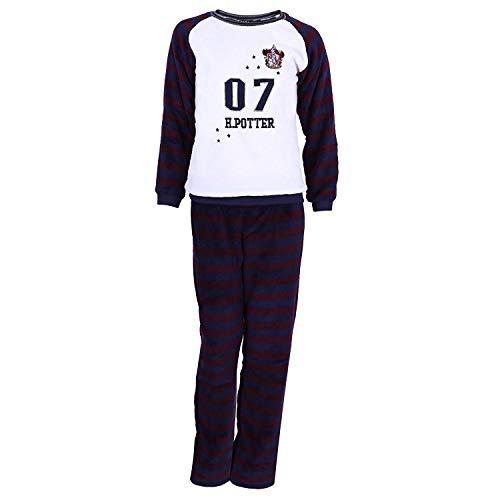 Harry Potter Griffindor Schlafanzug-Set Pyjama aus Fleece Oberteil und Hose lang - 32-34 / UK 6-8 / EU 34-36