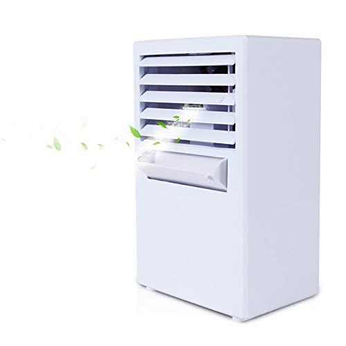 CAOQAO - Aire Acondicionado portátil para Aire Acondicionado portátil, Ventilador de Aire portátil, Mini refrigerador, humidificador de 3 velocidades, para casa, Oficina o Camping