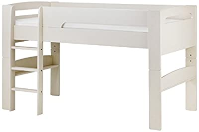 Julian Bowen Mid Sleeper, Wood, Stone White, Single