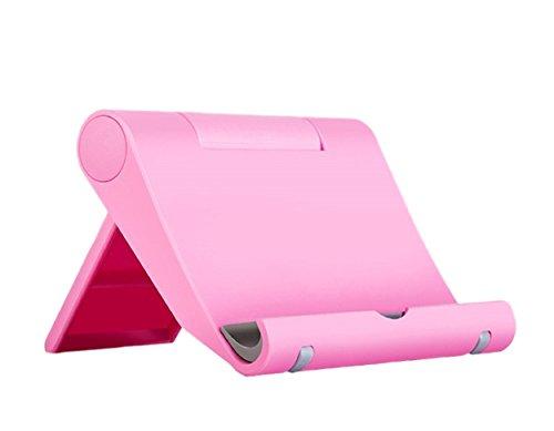 Multi-Winkel Handyständer Smartphone Ständer Handyhalter für Tablets Phablets E-Reader iPhone iPad bis 10 Zoll Verstellbar (Pink)