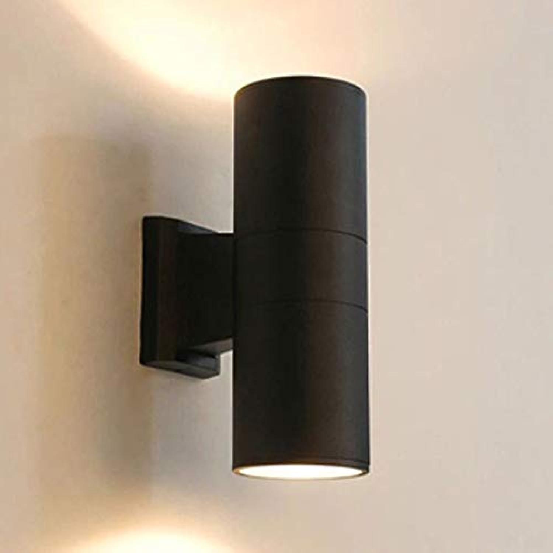 NHX LED Auen Wasserdicht Wandleuchte Aluminium Wandlampe Garden Gartenlampe Wnden Wegen Eingngen Doppelkopf Auenwandleuchte Wandbeleuchtung Schwarz 9  26 cm
