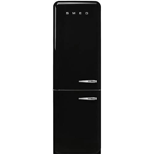Réfrigérateur combiné Smeg FAB32LBL3 - Réfrigérateur congélateur bas - 331 litres - Réfrigerateur/congel : Froid brassé / No Frost - Dégivrage automatique - Noir - Classe A+++ / Pose libre