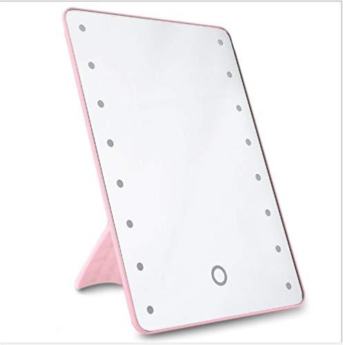 Xiaottian make-upspiegel, 16 led-touchscreen, dimbare verlichting, schoonheid, make-upspiegel voor de scheerbeurt, kaptafel