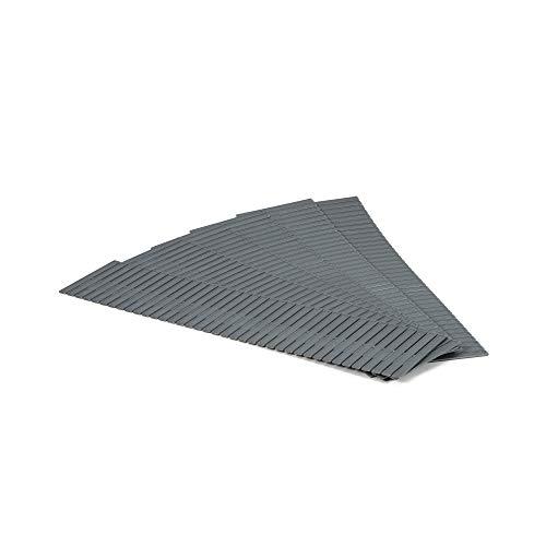 Compactor - Separadores Cajon, Polipropileno Rigido, color Gris, Talla Unica-Simple, 44 x 10 cm