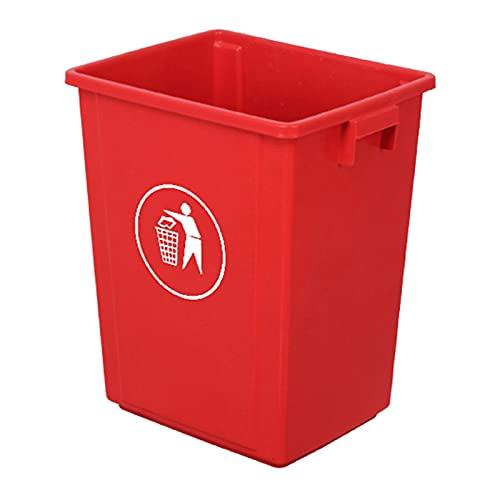 Cubo de Basura Bote de basura al aire libre, basura rectangular de plástico / papel de basura, bote de basura de cocina, 8.9Gallon, uso en interiores / exteriores (cuatro colores) papelera de oficina,