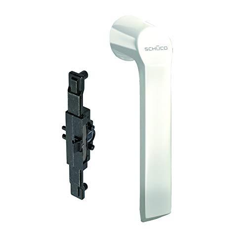 Fenstergriff - Schüco Riegelstangenbeschlag & Schüco Beschlag 2000 / Schnicks Weiß & passendes Kammergetriebe
