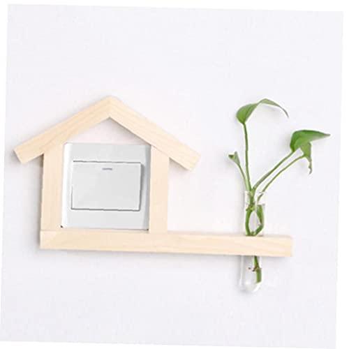 LAVALINK Interruptor De Madera Titular Forma Creativa Casa Interruptores Decoración Suministros Interruptor De La Toma para Hogar Decoración De La Habitación