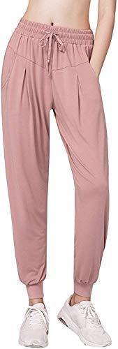 Mujer Pantalones Deportivos Pantalones Modernas Casual Ocio Pantalones del De Yoga Bombachos Deportivos Pantalones De Harén con Pantalones Casuales De La Moda De La Vendimia De Mujer Elásticos De