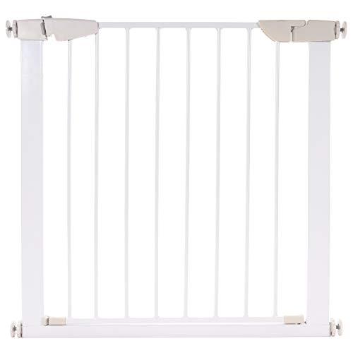 KIDIMAX Treppenschutzgitter 75-84 cm, ohne Bohren, Türschutzgitter für Kinder, Hunde und Katzen, mit Auto-Close & Keep-Open Funktion, Treppengitter weiß
