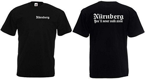 World-of-Shirt Herren T-Shirt Nürnberg You`ll Never Walk Alone UltrasL
