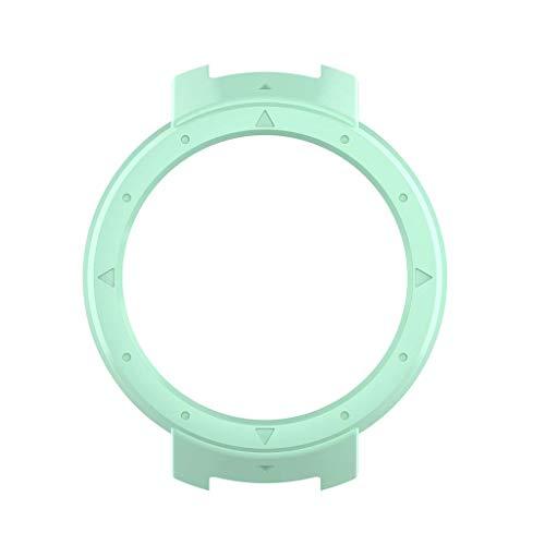 VVXXMO Carcasa protectora antiarañazos, marco protector, repuesto para Huami 3 Verge, accesorios de reloj inteligente