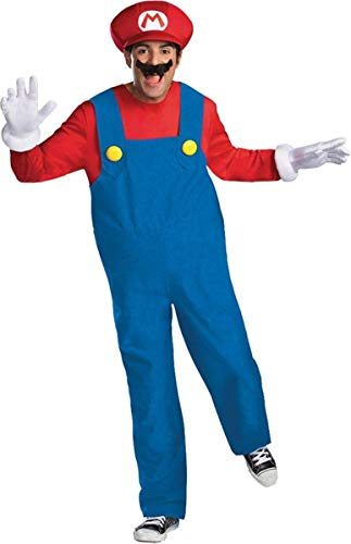 Super Mario Bros Herren Super Brothers Adult Deluxe Costumes, L