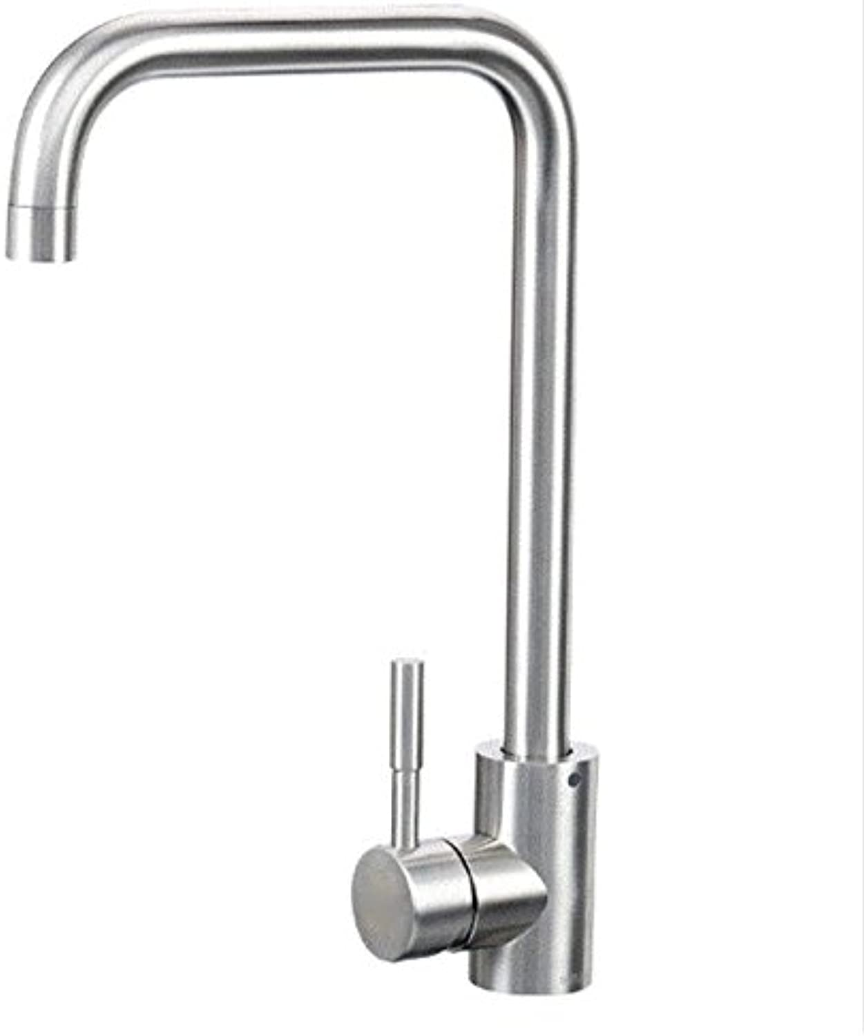 Commercial Single Lever Pull Down Kitchen Sink Faucet Brass Constructed Stainless Steel Seven-Word Hot and Cold Water Faucet, Kitchen Faucet, Sink redating Faucet, Basin Heightening Sink Sink Faucet