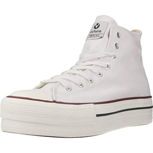 Victoria Tribu Doble Botin Lona, Zapatillas Unisex Adulto, Blanco...