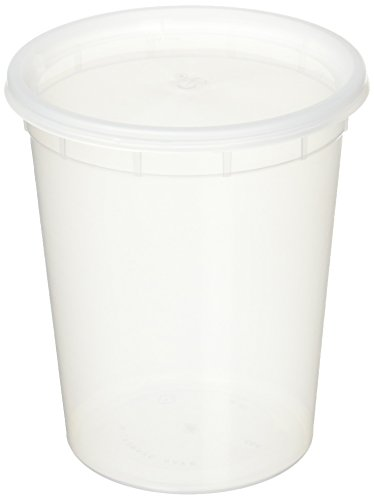 Reditainer Deli Food Storage Containers with Lid, 32-Ounce, 24-Pack