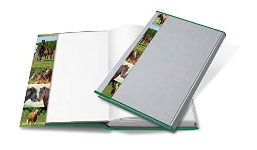 HERMA boekomslag HERMÄX 26 x 54 cm dolfijn design transparant van robuuste folie met gekleurde rand en motieflus voor schoolboeken 5 stuks. 26,5 x 54 cm paard