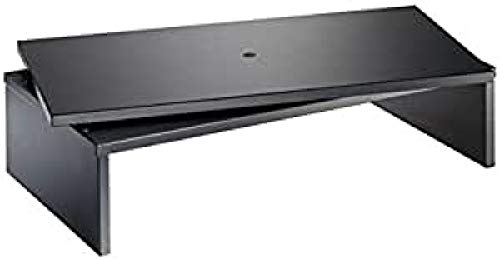Meliconi Space LCD M - Mesa para TV con plato giratorio, color negro