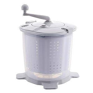 CCAN Huhn Machine à Laver Manuelle portative à manivelle Mini rondelle Non électrique pour Les dortoirs de Camping Appartements College Rooms, Gris