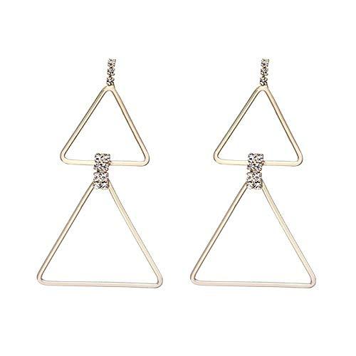 Geavanceerde betekenis eenvoudige driehoek oorbellen temperament persoonlijkheid wilde lange geometrische oorbellen