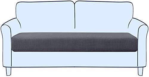 subrtex Sofa Sitzkissenbezug Stretch Sitzkissenschutz Elastischer Kissenbezüge Husse Überzug Bezug für Sofa Sitzkissen (2 Sitzer, Grau)