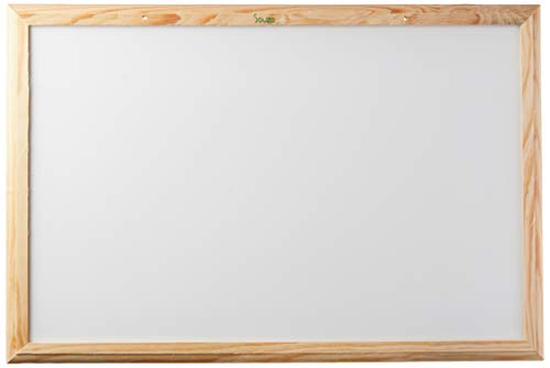 Quadro Branco Standard, Souza & Cia, 6162, Moldura de Madeira, 60x40