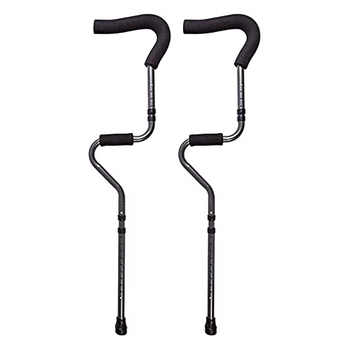 FHISD Muletas de rehabilitación Tipo S, muletas retráctiles Antideslizantes, fracturas, muletas médicas, portátiles, cómodas y Flexibles, muletas Antideslizantes Plegables