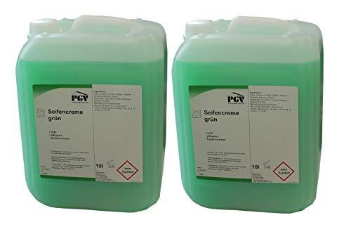 Seife - GRÜN - Cremeseife Seifencreme Flüssigseife 10 Liter Kanister (2 x 10 Liter)
