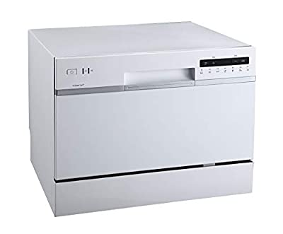 EdgeStar DWP62WH 6 Place Setting Energy Star Rated Portable Countertop Dishwasher - White