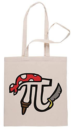 Rundi Pi Pirat Einkaufstasche Shopping Bag Beige