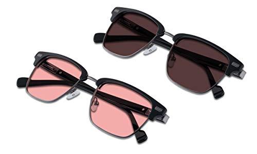 (Bundle) TheraSpecs Winslow Blue Light Glasses for Migraine, Light Sensitivity