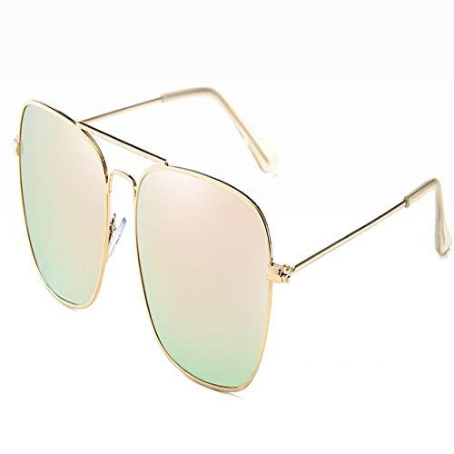 Moda Gafas De Sol Gafas De Sol Cuadradas Polarizadas De Aviación Mujer Gafas De Sol Retro Vintage Goldpink