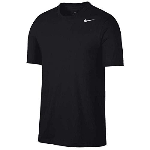 Nike Training Dry-Fit Solid T-Shirt (M, Black/White)
