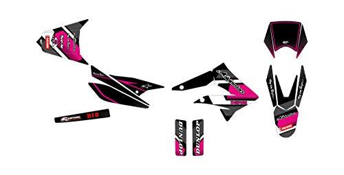 Kit de decoración para motocross Derbi DRD 50 Racing Comics Rosa 2010-2017