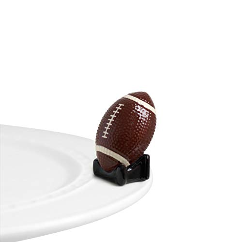 Nora Fleming Hand-Painted Mini: Touchdown (Football) A46